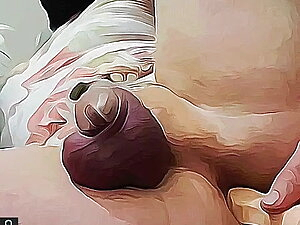 Masked sissy slut gapes its ass with dildo