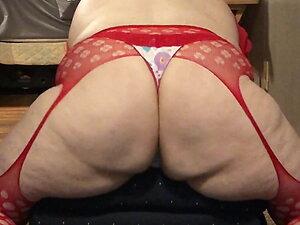 Fat Sissy Shaking Ass & Cumming In Her Thong