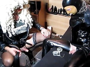 Humiliation of Sissy Fagot by TV Mistress