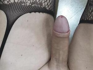 Sissy Slut Reveals Big Clit