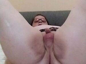 Fat ts Stacey riding a dildo