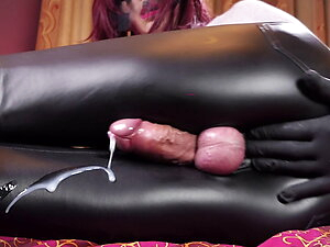 Shemale cock POV with dirty talk and big cum load