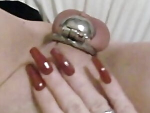 My little clit in small cage