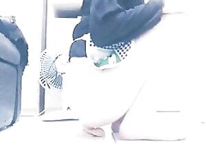 Housewife in apron fucking the dildo
