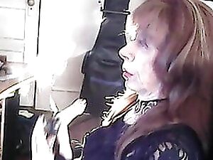 kathylicd smoking her cock bong
