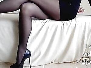 My Long Legs in Nylon Tights! Very High Heels
