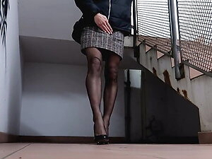 Piss on my Nylons in Public