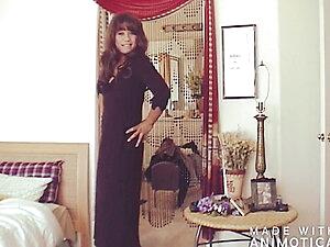 Black Long Dress Dancing & Teasing