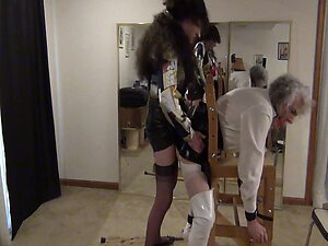Ronni bent over and fucked by Stephanie who rings her bells