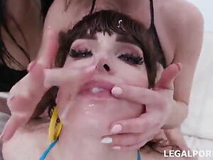 Tranny orgy with female and gays part 03
