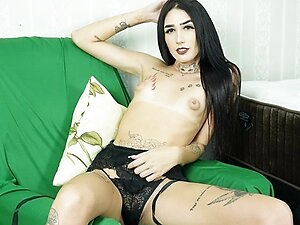 Sexy Petite Trans Marcela Dimov Masturbates