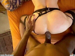 Trap BBC anal creampie