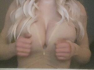 Sissyjenny88 Sexy Teasing Big Fake Boobs G Cup Tits