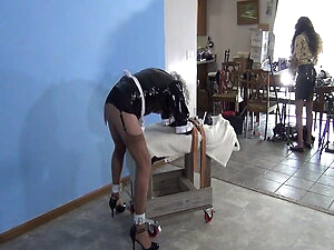 Maid Ronni Bent-over, bound, and used 7-15-21