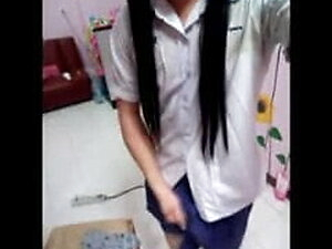 Old clip new story student teen ladyboy