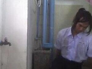 Thai ladyboy student  solo shower show