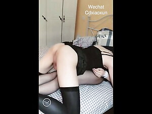Two lesbian femboys pleasing each other with vibrators