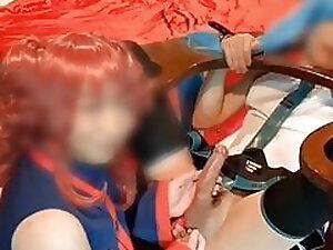 Japanese crossdresser lesbians Miku & Teto Negidorill 2nd