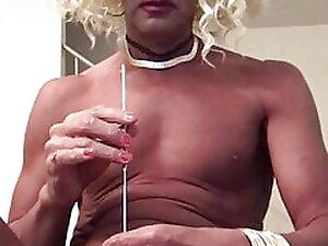 Naked Shemale Prostitute TGShawna Self Urethral Sound