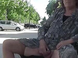 transgender travesti sounding lingerie road outdoor  39